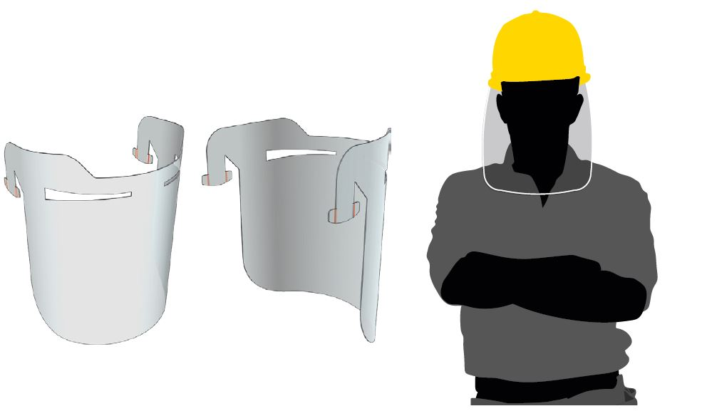 Face Shield for Hard Hat
